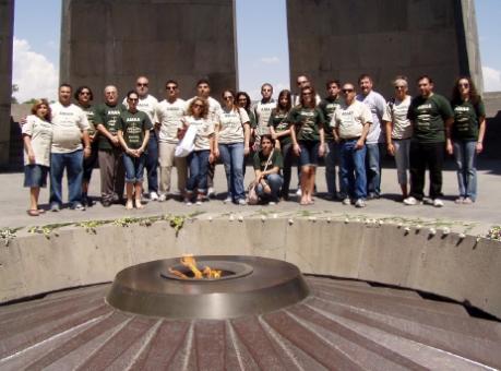 Interns at Tsitsernakaberd, Armenian Genocide