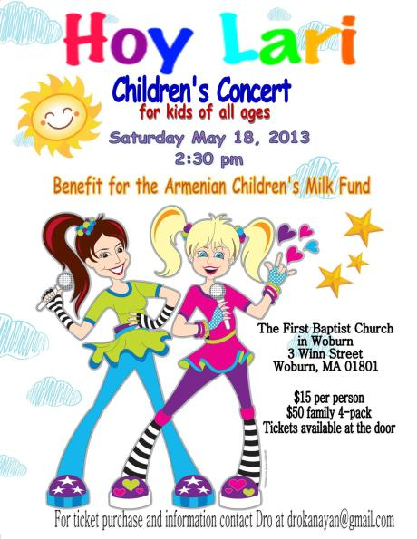 Hoy Lari Children's Concert in Boston!