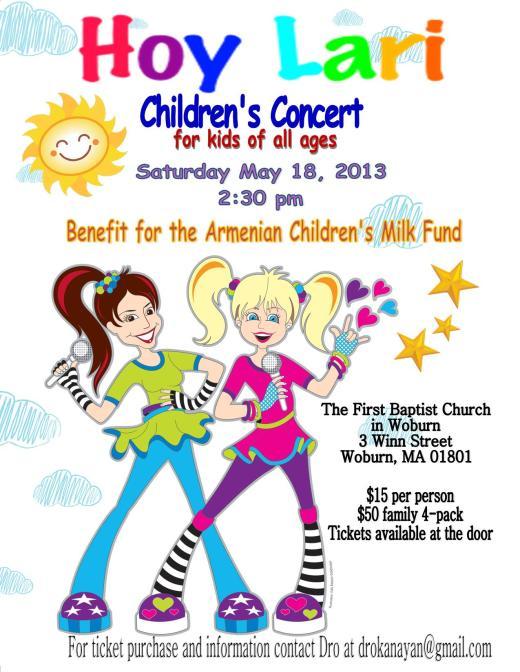 Hoy Lari Children's Concert in Boston!
