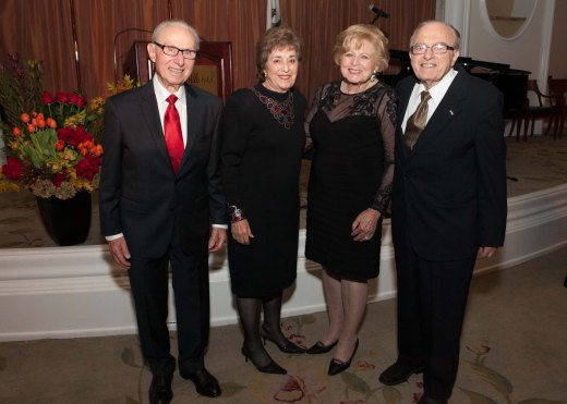 L to R - Honoree George R. Phillips Esq., Susie Phillips, Elizabeth Agbabian and Honoree Dr. Mihran Agbabian