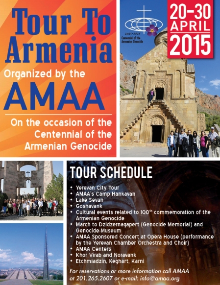 Armenia Tour flyer 2015