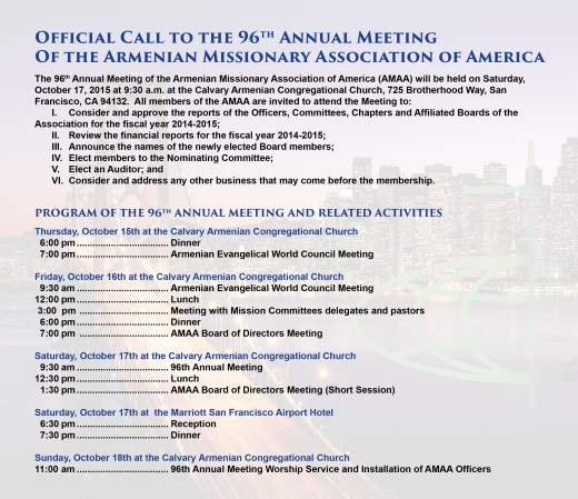 Call to 96th Annual Meeting
