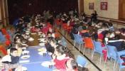 Children recieving meals.