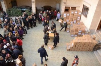 Distribution of relief supplies, Aleppo